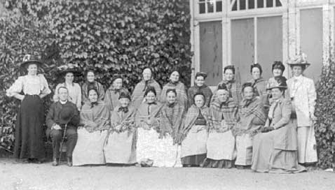 Female residents at the Workhouse, late 19th century