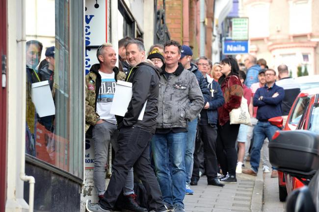 Music lovers queue up for the 2018 event - copyright South Wales Argus